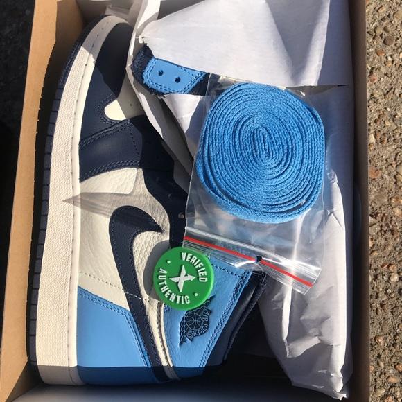 Nike Shoes Jordan 1 Retro High Obsidian Unc Size 7 Gs Poshmark